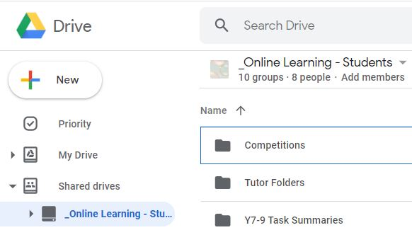 Google Shared Drive